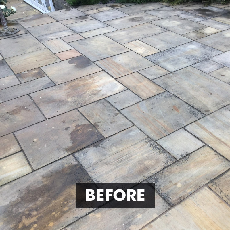 Before applying No More Black Spot Patio Black Spot Remover