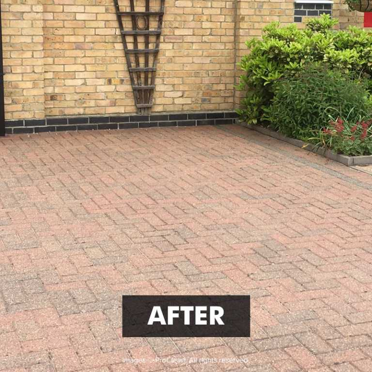 After applying Paving-PRO Cleaner