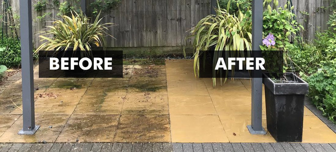 New Clean 60 Patio Cleaner by Universeal (Before & After Panorama)