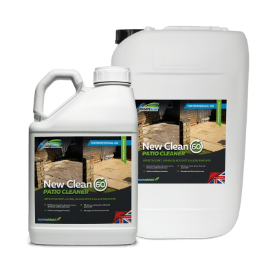 Patio Cleaning with New Clean 60 Patio Cleaner