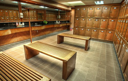 For wet areas use - changing rooms, showers, etc