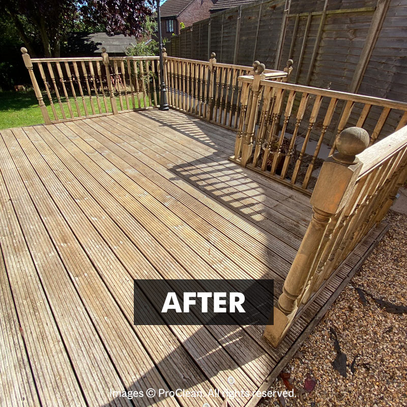 After applying Deck Clean
