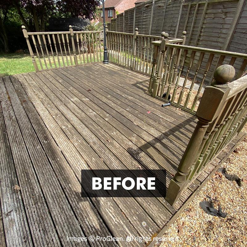 Before applying Deck Clean