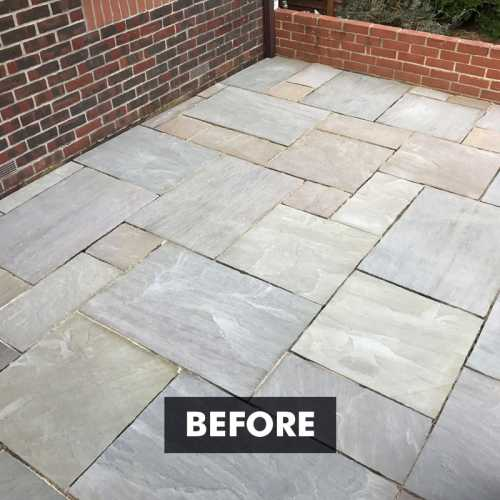 Before applying Sandstone Sealer