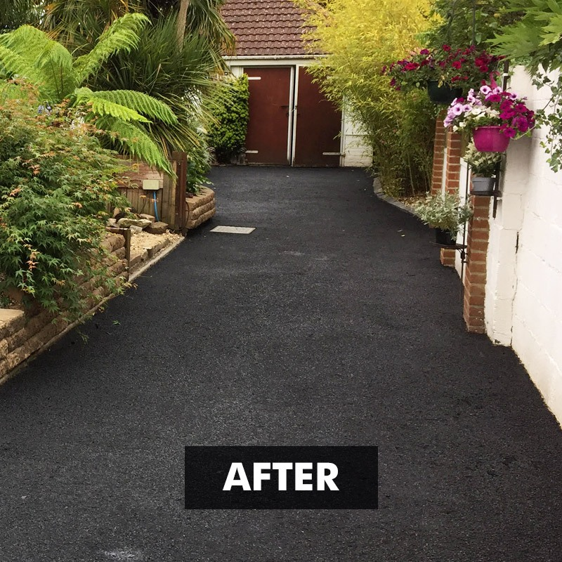 After applying Tar-seal Tarmac Sealer