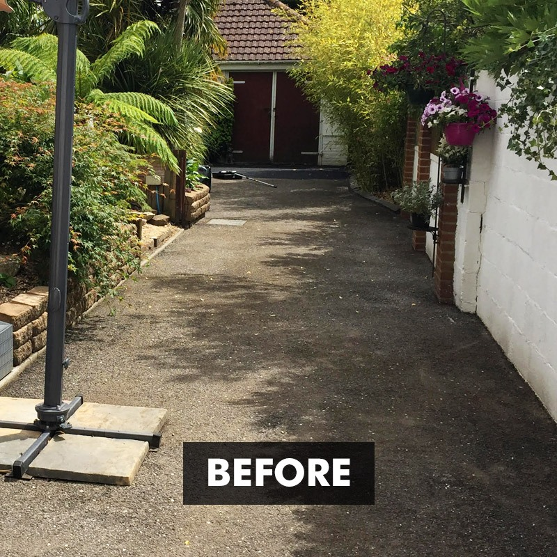 Before applying Tar-seal Tarmac Sealer