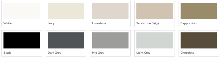 Grout Rescue Colour & Seal Swatches