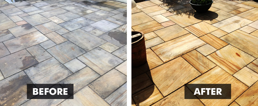 patio black spot eliminating cleaner also revives natural colours
