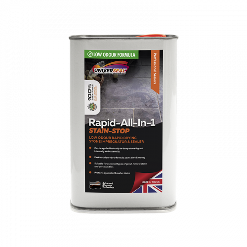 Universeal Rapid All-In-1 Stain Stop Stone Sealer New improved Low Odour Formula) (1 Litre)