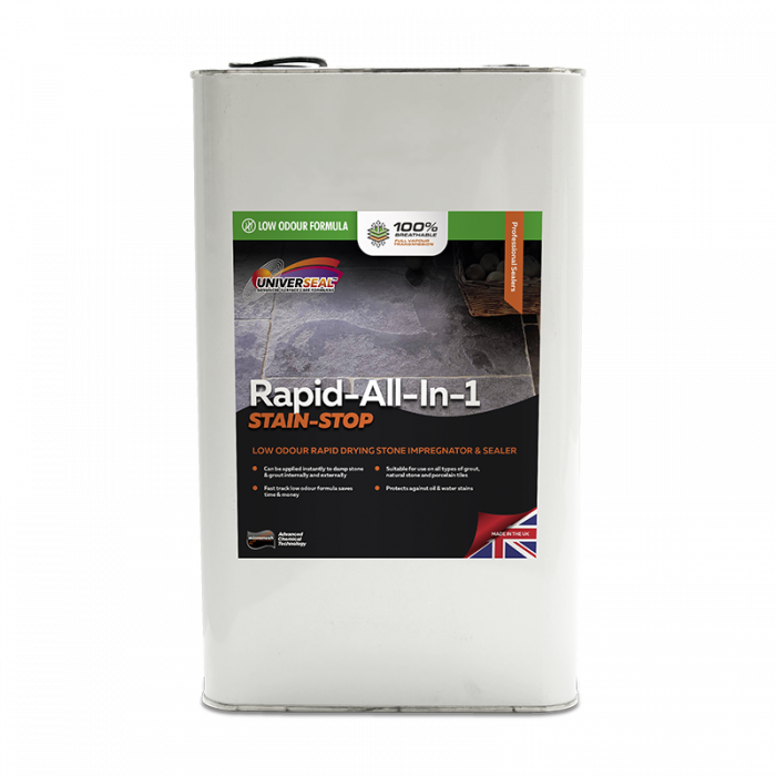 Universeal Rapid All-In-1 Stain Stop Stone Sealer New improved Low Odour Formula) (5 Litre)