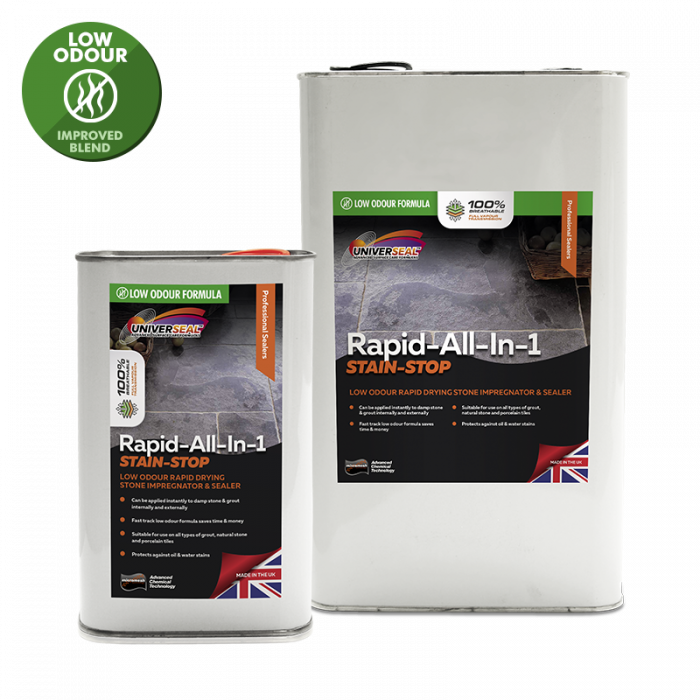 Universeal Rapid All-In-1 Stain Stop Stone Sealer New improved Low Odour Formula)