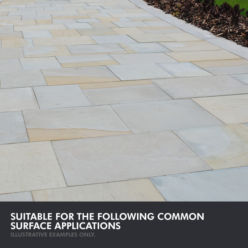 Illustrative Example Of Common Surface Applications · Universeal Patio  Stone Sealer Natural Matt Finish · Illustrative Example ...