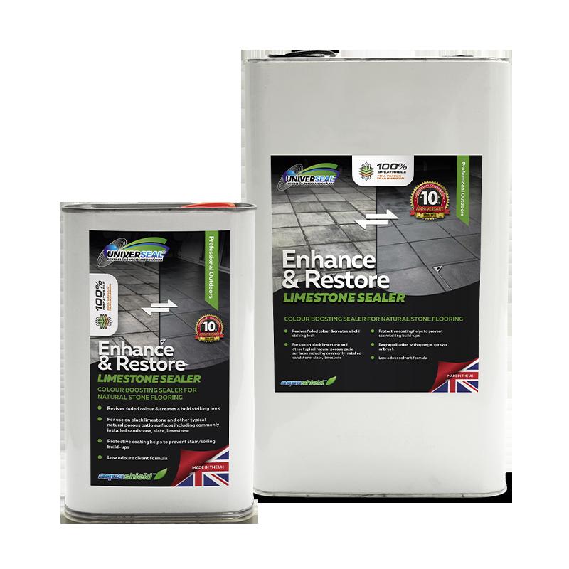 Universeal Enhance and Restore Limestone Sealer: ideal for reviving black limestone