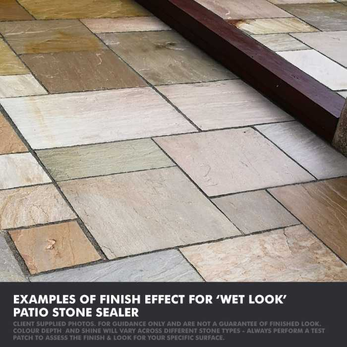 Universeal patio stone sealer wet look finish - client example