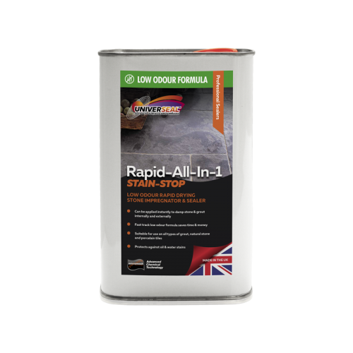Universeal Rapid All-In-1 Stain Stop Stone Sealer (Low Odour) 1 Litre