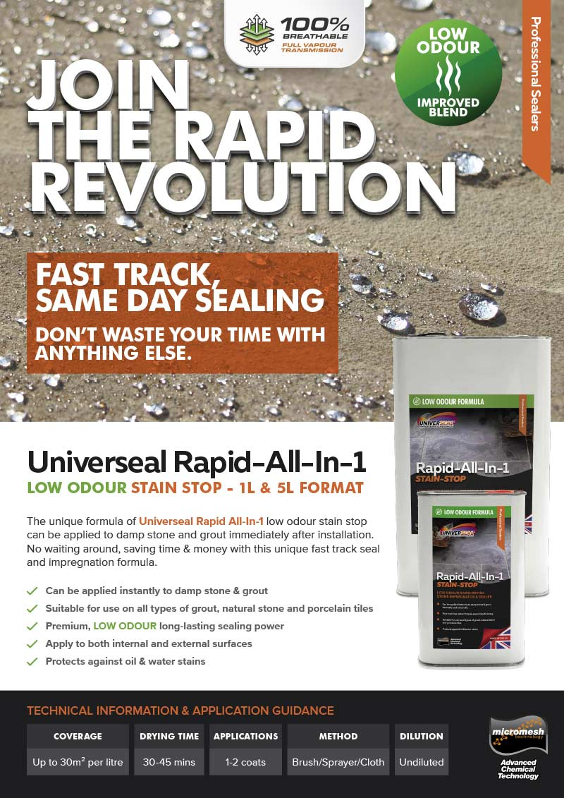 Rapid All-in-One Low Odour - join the revolution!