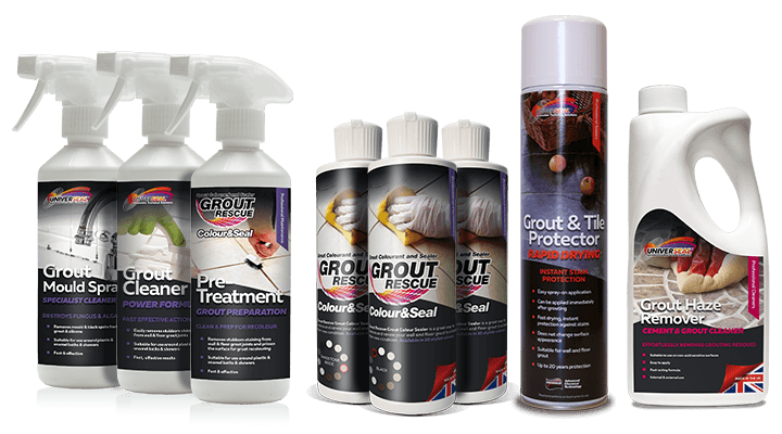 Universeal's market leading Grout Care Range
