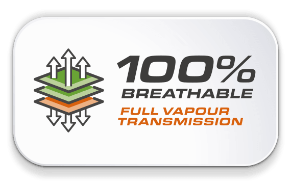 100% Breathable - Full Vapour Transmission Technology by Universeal