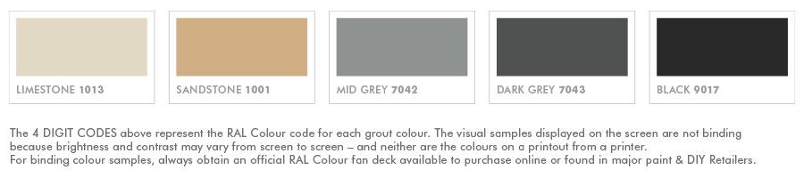 Grout Rescue X Colour Sealer Swatches