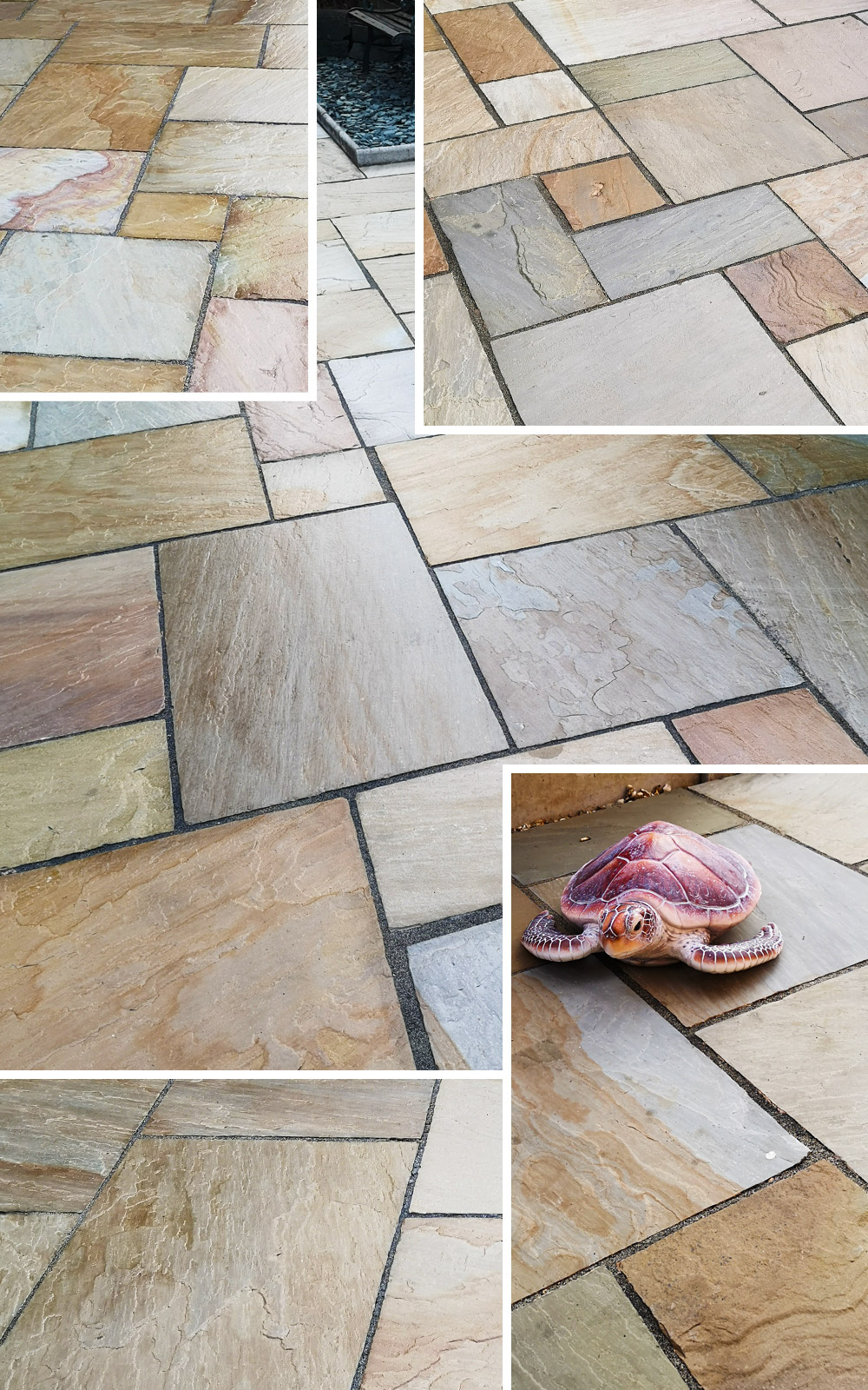 patio stone sealer wet look finished effect