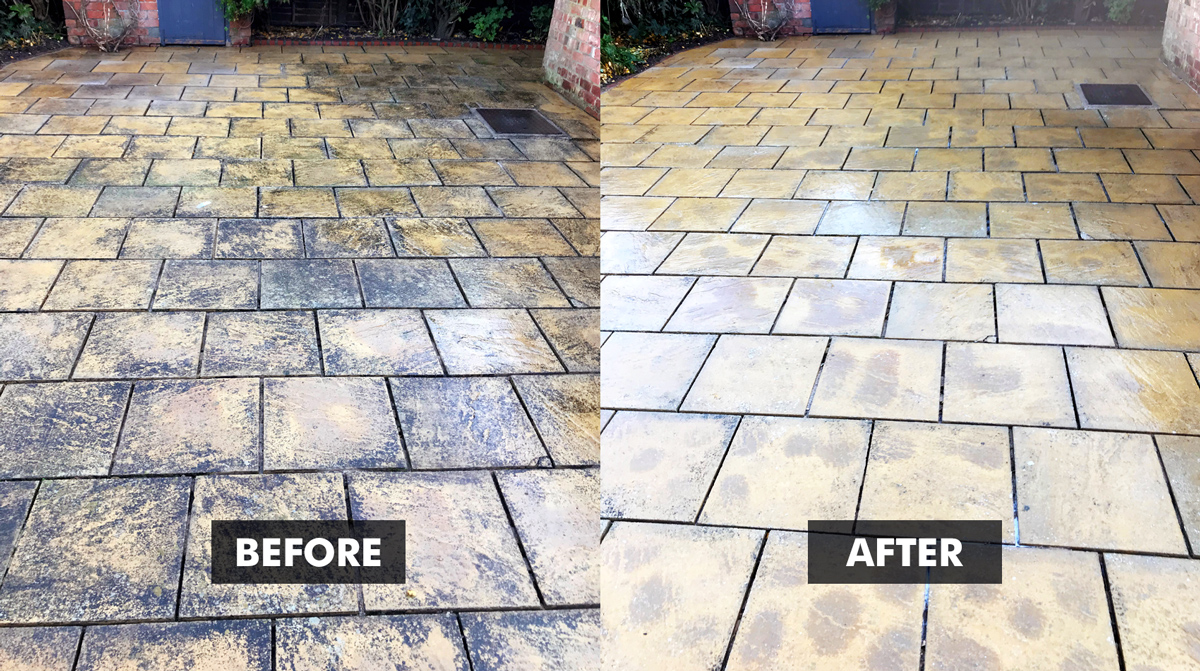 Before and After - Universeal NO MORE BLACK SPOT patio treatment